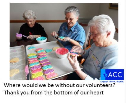 Aged Care Channel thanked volunteers on its Facebook page